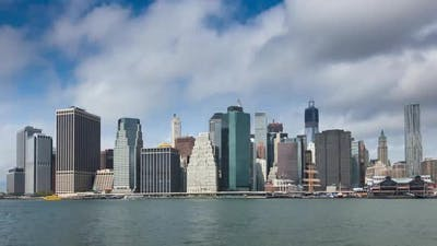 Timelapse view of Manhattan in New York - USA