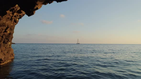 Thumbnail for Sailboat Floating from a Distant in the Bay of Biscay