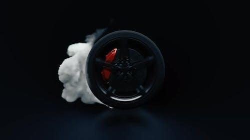 Spinning Black Wheel 4K