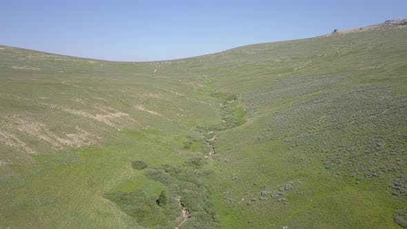 Thumbnail for Aerial of Alpine Mountain Habitat High Elevation in Bighorn Mountains Summer