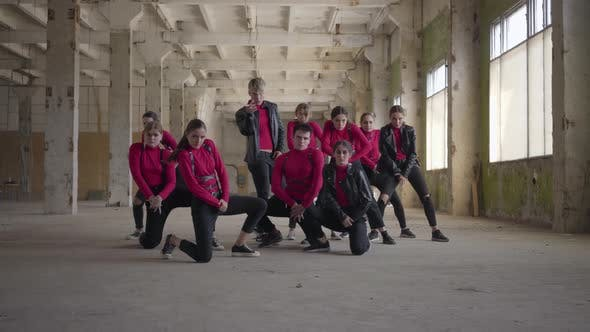 Thumbnail for Professional Dancers Girls and Boys Enjoying Hip Hop Moves Performing Freestyle Dance Together