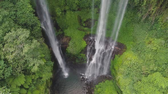 Thumbnail for Beautiful Tropical Waterfall Bali, Indonesia