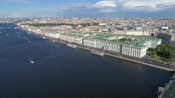 Thumbnail for Aerial View of City Center of St. Petersburg