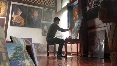 Junge Künstlermalerei