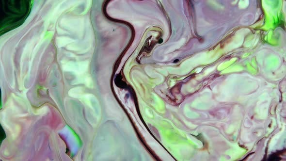 Thumbnail for Abstract Colorful Ink Paint Color Spreading Background Texture