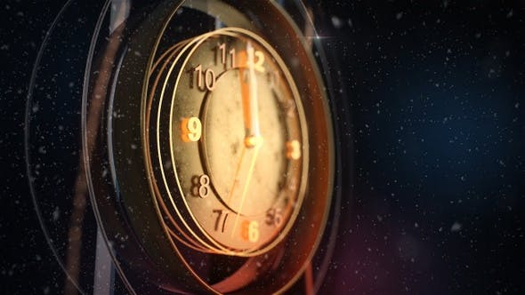 2021 Happy New Year Golden Countdown