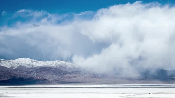 Dry Lake Clouds Time Lapse