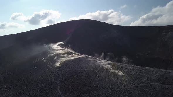 Thumbnail for Aerial View on Volcanic Gas Exiting Through Fumaroles on Vulcano Island