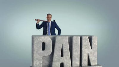 Mature Male Entrepreneur Fighting Pain