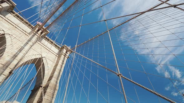 Thumbnail for Walk Along the Brooklyn Bridge Lower Angle Shooting with Rotation