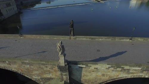 Aerial of Charles Bridge