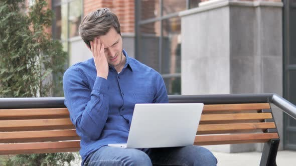 Thumbnail for Failure, Man Frustrated by Results, Sitting Outside Office