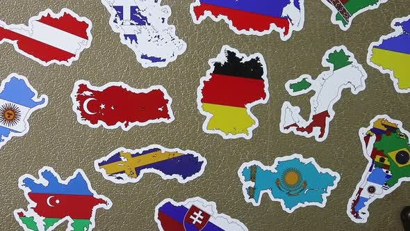 Suitcase Stickers of the Flags of the Countries