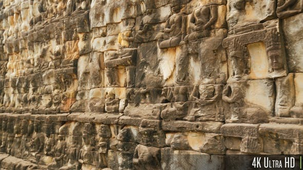 Thumbnail for 4K Terrace of the Elephants in Angkor Thom, Siem Reap Cambodia