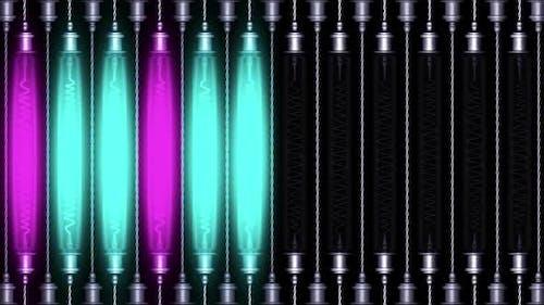 Lights Flashing Panel Looped Video
