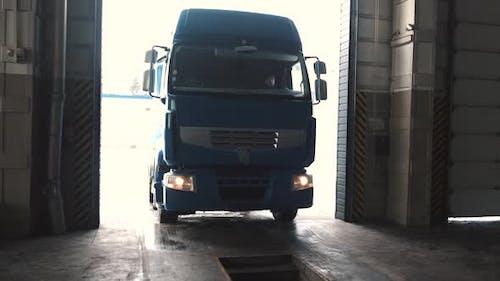 Blue Van Truck Ar Car Service Garage