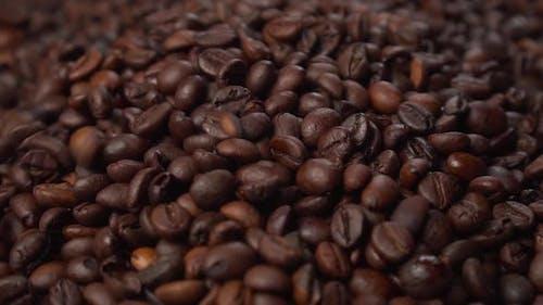 Coffee beans blend coffee falling.
