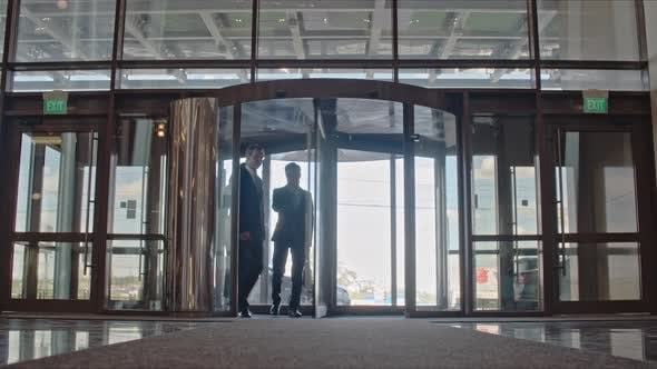 Thumbnail for Business People Entering Office Building