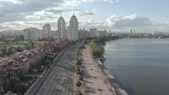 Thumbnail for Kyiv, Ukraine. Obolon District. Aerial View