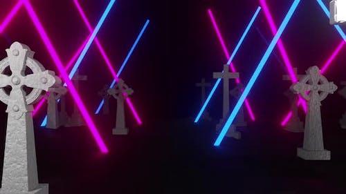 Halloween Cross Neon 02