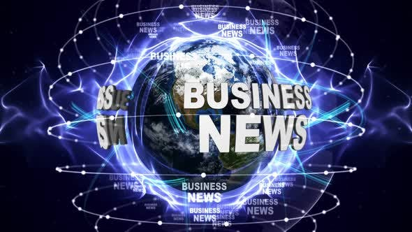 Thumbnail for Business News Text Around Earth, Loop