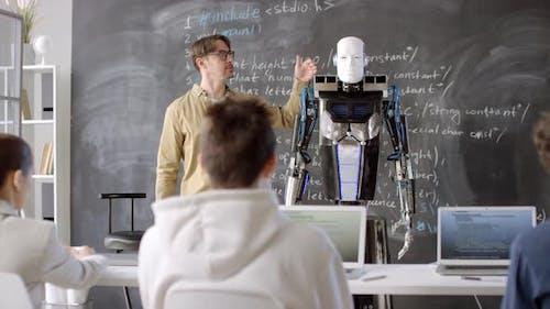 Quantum Robot in Classroom