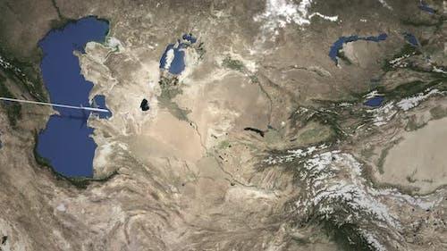 Kommerziell Flugzeug Fliegen nach Taschkent Usbekistan