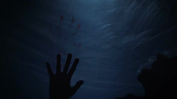 Breathless Victim of Psychopath Behind Plastic, Pain and Fear, Cruel Murder