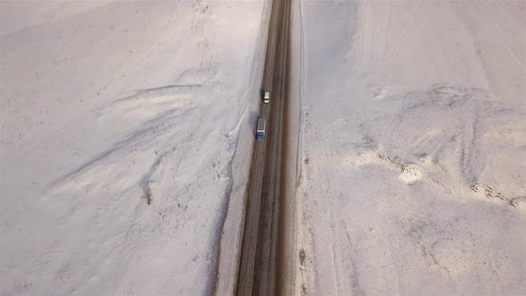 Thumbnail for Truck On Winter Road
