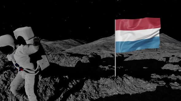 Thumbnail for Astronaut Planting Luxembourg Flag on the Moon