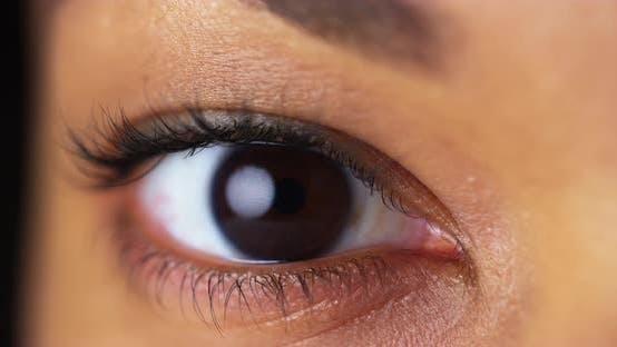 Thumbnail for Closeup of brown eyes