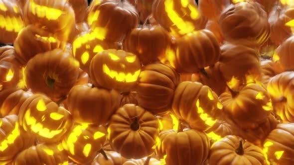 Jack O Laterne Halloween Kürbis Übergänge 4K