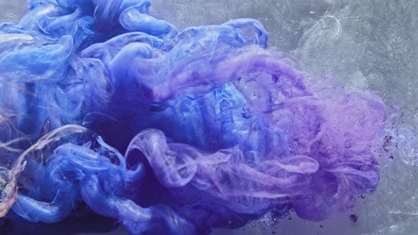 Thumbnail for Ink Water Purple Blue Paint Blend