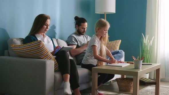 Familie Indoor Freizeit