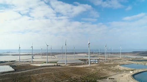 Windmills Park Stopped Without Wind