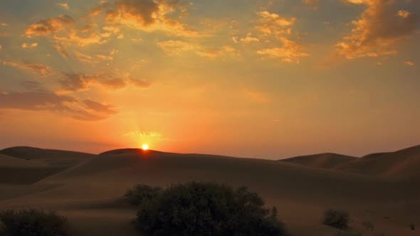 Thumbnail for Sunrise in Tar Desert India Panorama Timelapse