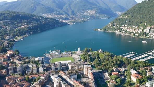 Como City Lake Aerial View