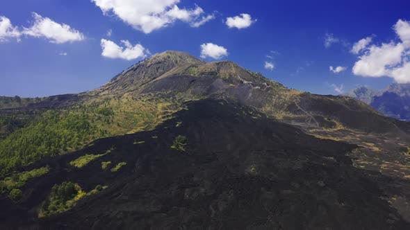 Thumbnail for Landscape of Batur Volcano on Kintamani, Bali Island, Indonesia. Aerial View
