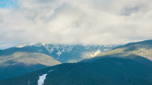 Thumbnail for Winter Forest and Mountain Landscape