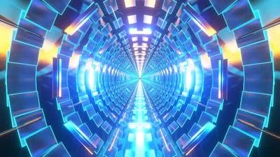 Glowing Neon Tunnel
