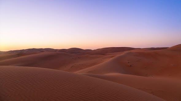 Sand dunes in in desert