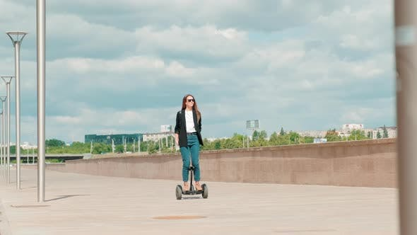 Thumbnail for Balancing On Gyroscooter Outside