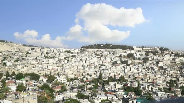 Thumbnail for Jerusalem Israel. Old City Clouds