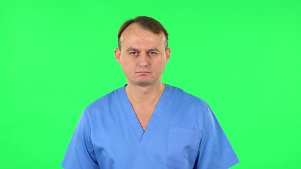 Thumbnail for Medical Man Is Very Offended. Green Screen
