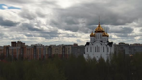 Thumbnail for Orthodox Temple in City under Clouds Quick