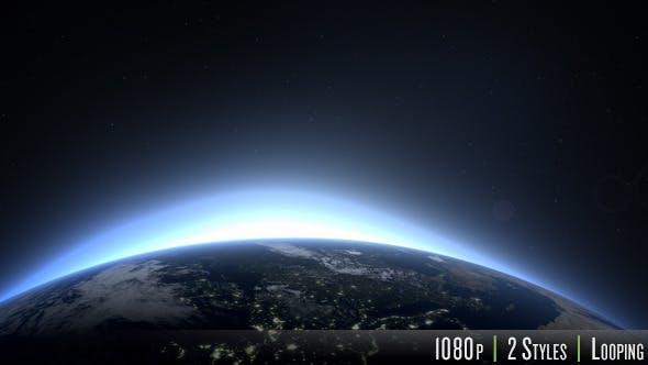 Sunrise over the Earth - Europe