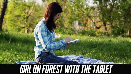 Thumbnail for Girl On Forest With The Tablet