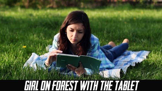Thumbnail for Girl On Forest With The Tablet 2