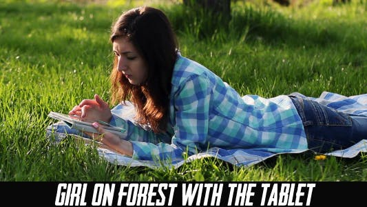 Thumbnail for Girl On Forest With The Tablet 4