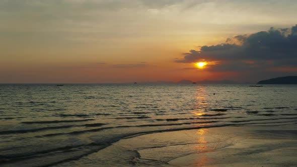 Thumbnail for Sunset on the Tropical Beach, Krabi, Thailand